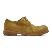 Marsell Ssense Exclusive Yellow Suede Zucca Media Derbys