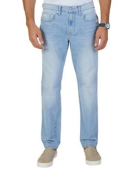 Nautica Slim Fit Washed Stretch Jeans Seafrost