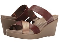 Crocs Leigh Ann Wedge Leather Bronze Women's Wedge Shoes