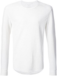 Vince Crew Neck Sweatshirt Cotton Xxl White