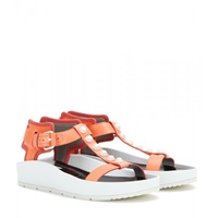 Balenciaga Classic Strap T Bar Leather Sandals