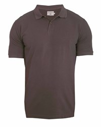 Double Two Classic 100 Cotton Plain Polo Shirt Brown