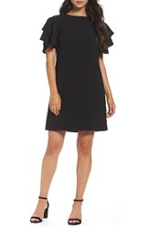 Chetta B Women's Crepe Shift Dress Black