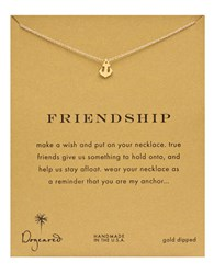 Dogeared Friendship Anchor Pendant Necklace Gold