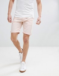 Bellfield Slim Fit Chino Shorts In Washed Pink Washed Pink