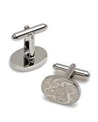 The Men's Store At Bloomingdale's Engraved Oval Cufflinks