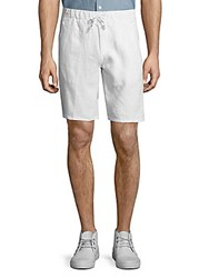 Saks Fifth Avenue Stretch Linen Shorts White