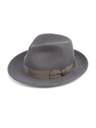 Goorin Bros Doctor Heritage Wool Felt Fedora Grey Black