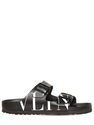 Valentino Garavani Birkenstock X Vltn Leather Sandals Black