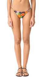 Milly Floral Print Elba Bikini Bottoms Multi