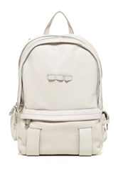 Christopher Kon Combat Leather Rucksack White