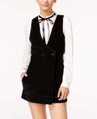 In Awe Of You By Awesomenesstv Awesomeness Tv Juniors' Tie Neck Long Sleeve Romper Black