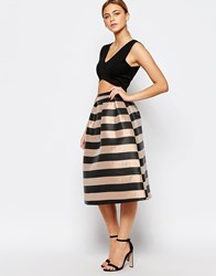 Oasis Stripe Skater Skirt Multi