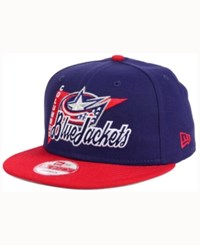 New Era Columbus Blue Jackets Logo Stacker 9Fifty Snapback Cap Lightnavy Red