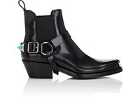 Calvin Klein 205W39nyc Tipped Strap Leather Chelsea Boots Black