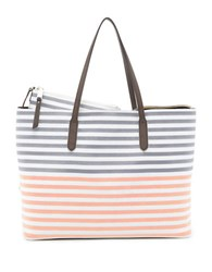 Splendid Key Largo Striped Vegan Leather Tote Melon