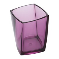 Amara Acrylic Toothbrush Holder Pink