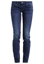 Mustang Gina Slim Fit Jeans Stone Dark Blue Denim