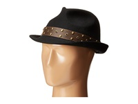 Carlos By Carlos Santana Wool Fedora With Teardrop Crown Hat Black Fedora Hats