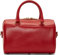 Saint Laurent Red Leather Baby Duffle Bag