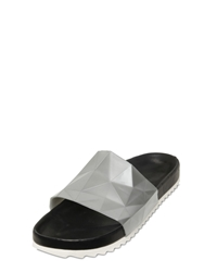 United Nude Diamond Cut Silicone Sandals Silver
