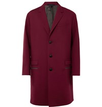 Lanvin Oversized Wool Blend Coat Burgundy
