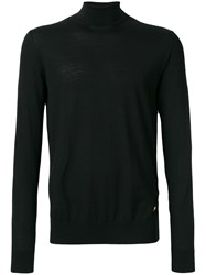 Versace Turtleneck Slim Fit Jumper Wool Black