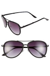 Women's Bcbgmaxazria 54Mm Aviator Sunglasses Black Matte