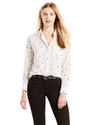 Levi's Sidney One Pocket Boyfriend Shirt Koto Marshmallow
