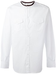 Dolce And Gabbana Contrast Collar Shirt White