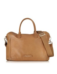 The Bridge Brown Leather Tote W Shoulder Strap