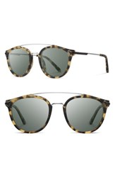 Shwood Men's Kinsrow 49Mm Acetate And Wood Sunglasses Matte Havana G15 Matte Havana G15