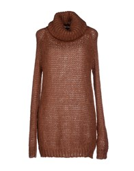 Adele Fado Knitwear Turtlenecks Women Rust
