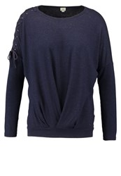 Khujo Thebe Long Sleeved Top Evening Blue Dark Blue