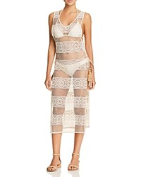 Pilyq Joy Crocheted Lace Dress Swim Cover Up Water Lily