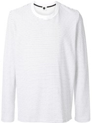Bassike Striped Long Sleeved T Shirt Grey