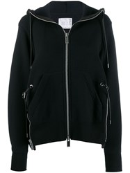 Sacai Oversized Hooded Jacket Black