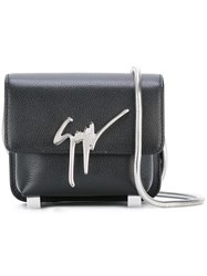 Giuseppe Zanotti Design Flap Closure Crossbody Bag Black