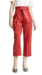 Marissa Webb Anders Belted Pants Cardinal Red