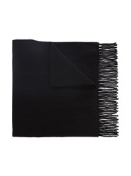 Polo Ralph Lauren Logo Embroidered Scarf Black
