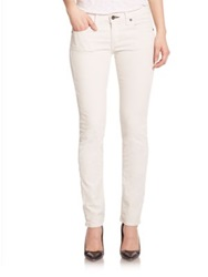Rag And Bone The Tomboy Corduroy Cropped Skinny Boy Fit Jeans Winter White