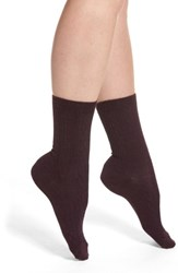 Smartwool Women's Cable Crew Socks Bordeaux Heather