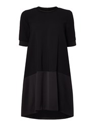 Marella Fresia 1 2 Sleeve Woven Mix Dress Black