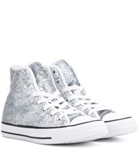 Converse Chuck Taylor All Star High Top Sneakers Silver