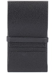 Valextra Logo Embossed Cardholder Men Leather One Size Black