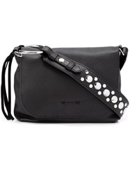 Elizabeth And James Studded Strap Crossbody Bag Black
