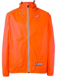 K Way Les Art Ists 'Dream Team' Print Jacket Yellow Orange