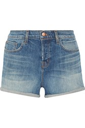 J Brand Gracie Stretch Denim Shorts Blue