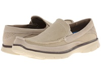 Dockers Ambrose Stone Washed Canvas Suede Men's Slip On Shoes Gray