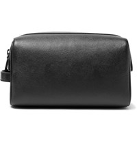 Common Projects Cross Grain Leather Wash Bag Black